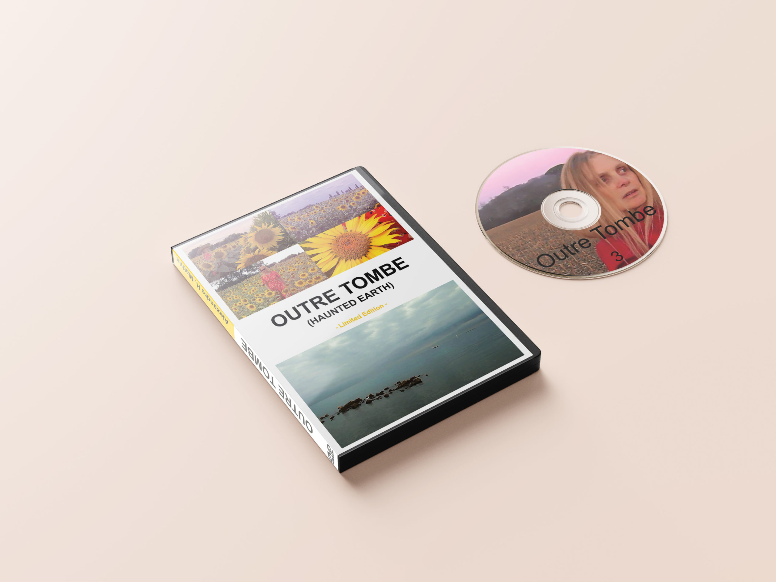 mockup outre tombe boîtier et dvd